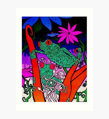 Lick the Toad Art Print