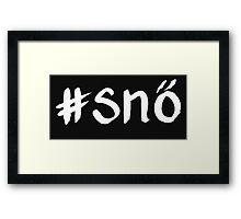 Hashtag snö vit - OneMandalaADay Framed Print