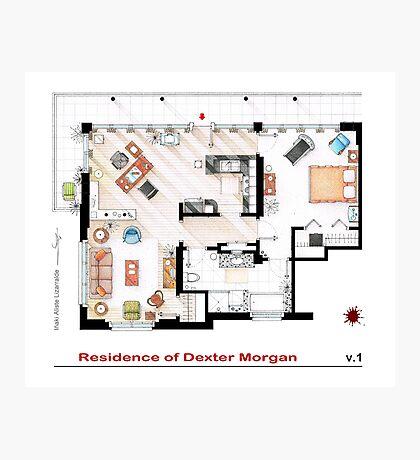 Floorplan of the apartment of Dexter Morgan v.1 Photographic Print