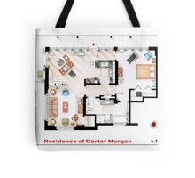 Floorplan of the apartment of Dexter Morgan v.1 Tote Bag
