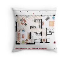 Floorplan of the apartment of Dexter Morgan v.2 Throw Pillow
