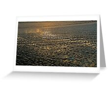 Sunset Low Tide Greeting Card