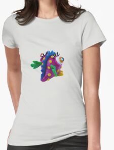 Plasticine monster Womens Fitted T-Shirt