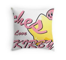 Bitches Love Kirby Throw Pillow