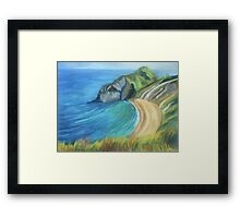 Man O' War Beach, Dorset Framed Print