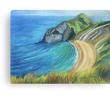 Man O' War Beach, Dorset Canvas Print