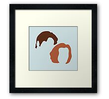 X-Files Scully and Mulder, Fox and Dana Framed Print