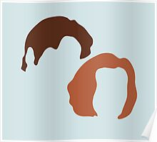X-Files Scully and Mulder, Fox and Dana Poster