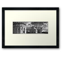 Piazza dei Miracoli, Pisa, Italy. Framed Print