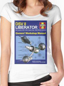 Blake's 7 Liberator  Women's Fitted Scoop T-Shirt