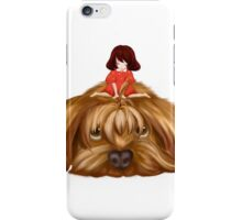 The Big Dog and the Little Girl. iPhone Case/Skin