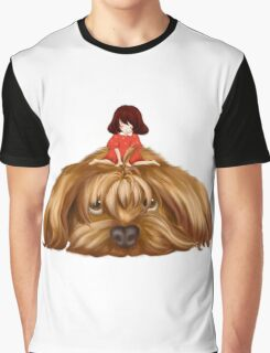 The Big Dog and the Little Girl. Graphic T-Shirt