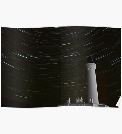 Lossiemouth Lighthouse Star Trail Poster