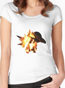 Cyndaquil used Ember Women's Fitted Scoop T-Shirt
