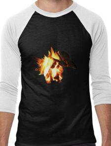 Cyndaquil used Ember Men's Baseball ¾ T-Shirt