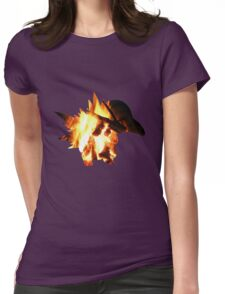 Cyndaquil used Ember Womens Fitted T-Shirt