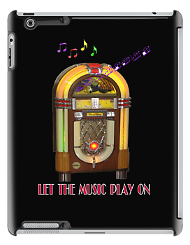 Let the Music Play On iPad Case by Catherine Hamilton-Veal  ©