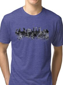 Madrid skyline in black watercolor Tri-blend T-Shirt