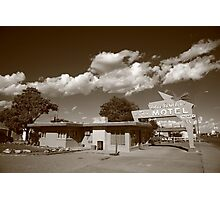 Route 66 - Blue Swallow Motel Photographic Print