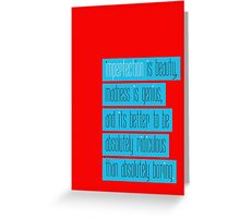 IMPERFECTION IS BEAUTY Greeting Card