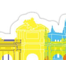 Madrid skyline pop Sticker