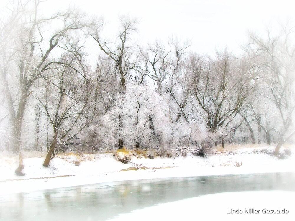 Vingett Winters Lake by Linda Miller Gesualdo