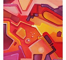 Plasticon - Abstract Acrylic Canvas Painting Photographic Print