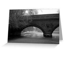 The Frozen River Cam 1962 Greeting Card