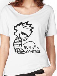 Boy Peeing on GUN CONTROL Women's Relaxed Fit T-Shirt