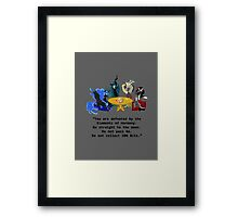 Villains at Play Framed Print