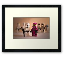 Pretty in pink. Framed Print
