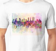 Madrid skyline in watercolor background Unisex T-Shirt