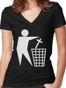 Atheist Women's Fitted V-Neck T-Shirt