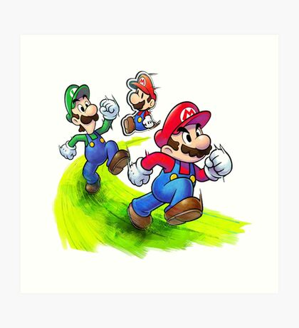 Mario and Luigi Brothers - Nintendo Art Print