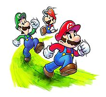 Mario and Luigi Brothers - Nintendo Photographic Print