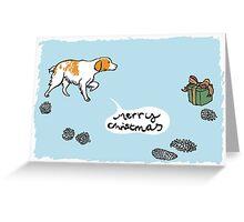 Brittany Spaniel Christmas Greeting Card