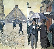 Sketch for 'Paris, a Rainy Day', 1877 by Bridgeman Art Library