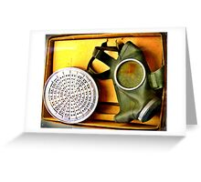 Gas Mask from The Second World War Greeting Card