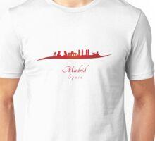 Madrid skyline in red Unisex T-Shirt