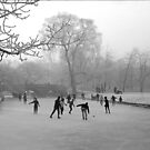 Skaters on the Cambridge Backs, Winter 1962 by NevilleNewman
