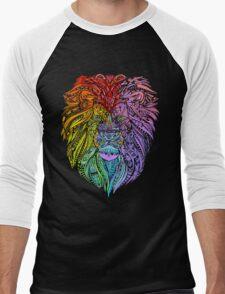 Lion Mandala Men's Baseball ¾ T-Shirt