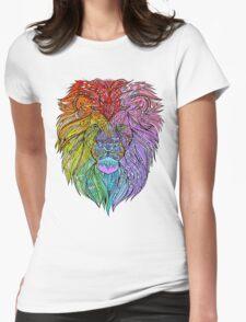 Lion Mandala Womens Fitted T-Shirt