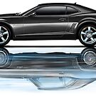 Camaro New Refecting Old in Water Black by davidkyte
