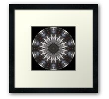 Jet Engine Kaleidoscope 01 Framed Print