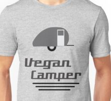 Vegan Camper in Black Unisex T-Shirt