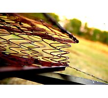 Rusted Mattress  Photographic Print
