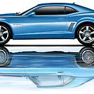 Camaro New Refecting Old in Water Blue by davidkyte