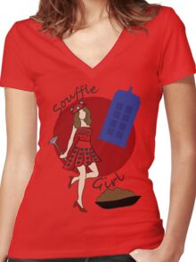 Dalek Souffle Girl Women's Fitted V-Neck T-Shirt