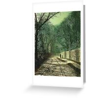 Tree Shadows on the Park Wall, Roundhay, Leeds, 1872  Greeting Card
