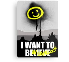 I want to believe in SHERLOCK Metal Print